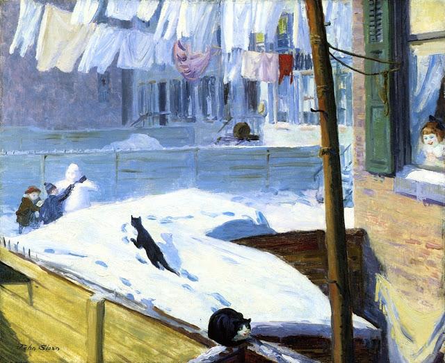 John Sloan (American painter, 1871-1951) Backyards, Greenwich Village 1914