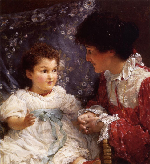 Alma_Tadema_Mrs_George_Lewis_and_Her_Daughter_Elizabeth
