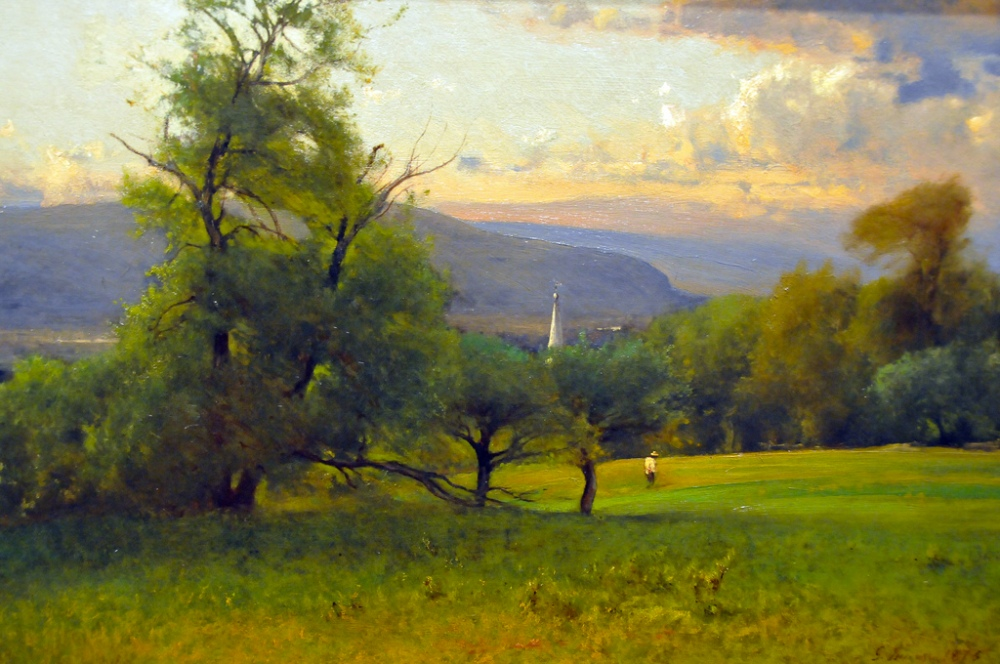 George Inness - The Church Spire, 1875