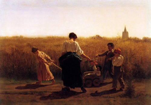 Copy_after_Jules Breton-s-Le_Depart_les_Champs-_ca_1865